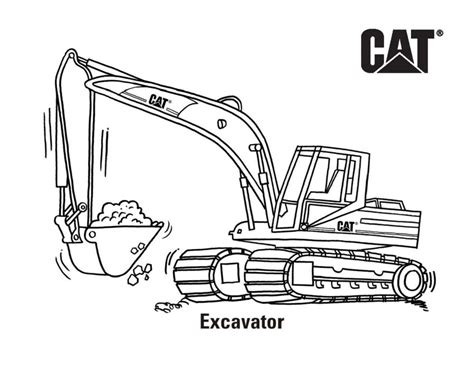 cat  cat machine  product coloring pages caterpillar