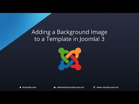 template joomla background image adding an background image to a template joomla 3 0