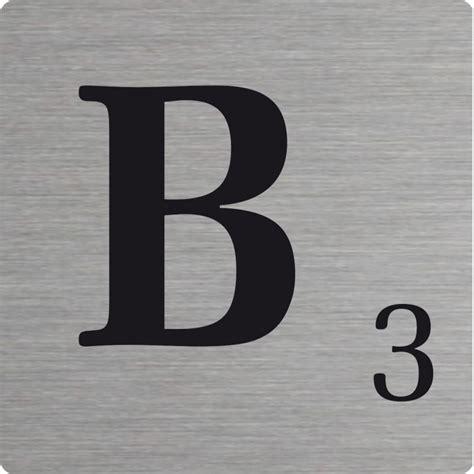 b in scrabble lettre d 233 co scrabble en alu b