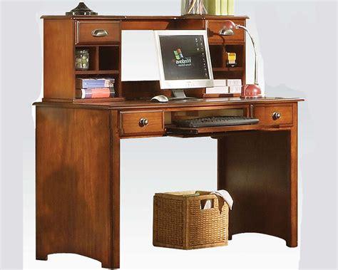 antique oak desk w hutch brandon by acme furniture ac11019dh