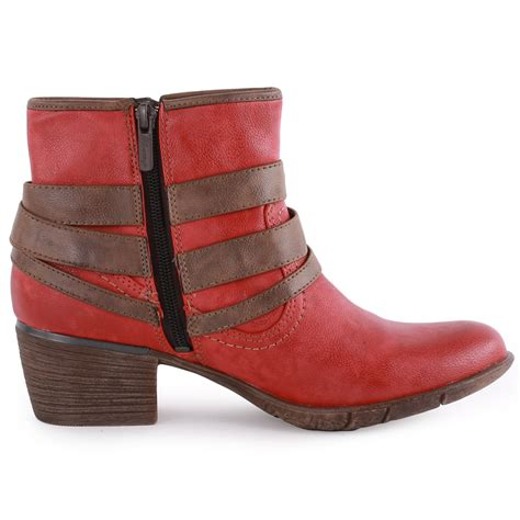 mustang 1166 501 womens synthetic leather ankle boots