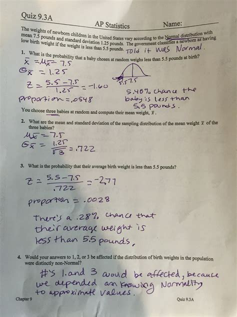 statistics section 2 part b question 6 ap statistics mrs shelton mott