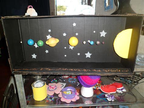 como hacer un planetario en una caja de zapatos sistema solar astronomia pinterest school