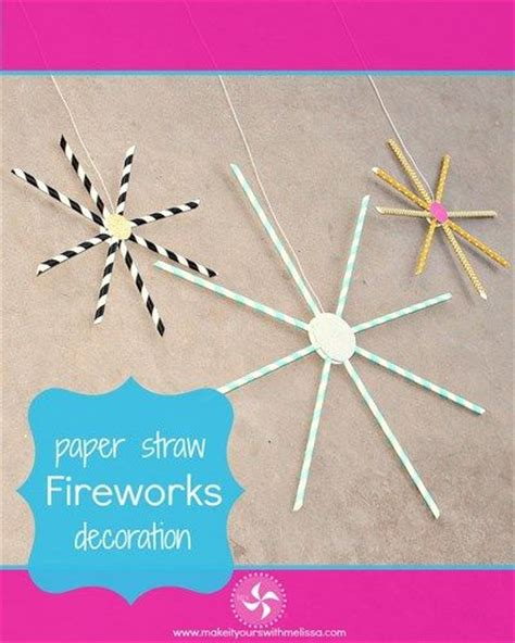 How To Make A Firework Out Of Paper - paper straw fireworks crafts paper and the o jays