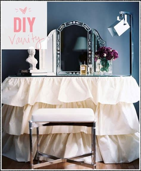 Diy Vanity Table Diy Vanity Table Small Space Storage Ideas