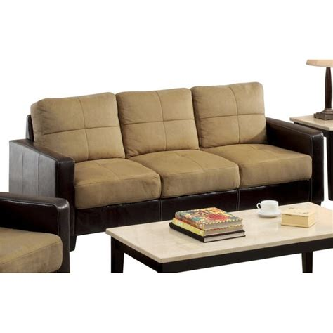 taupe couch gilic dark taupe and espresso sofa