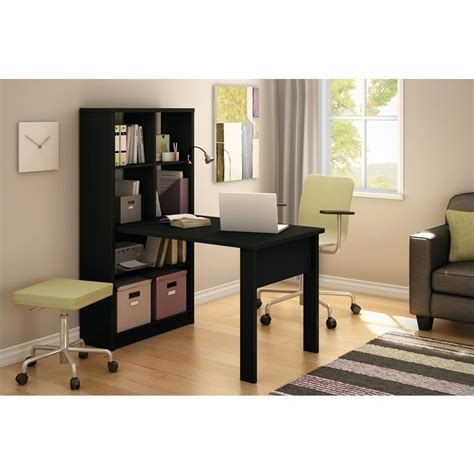 l and table combo south shore annexe work table and storage unit combo in