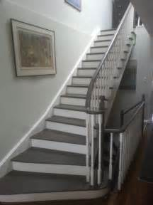Spindles And Banisters Painted Stairs