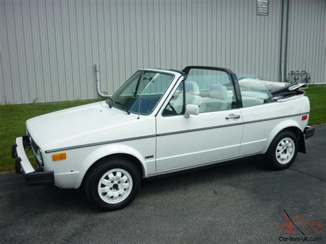 volkswagen rabbit convertible awesome 1985 volkswagen cabriolet 28k miles triple white
