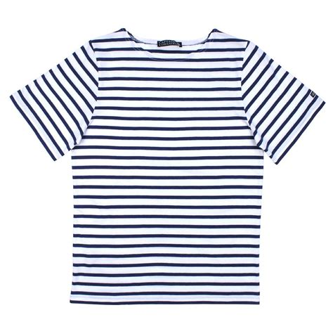 T Shirt Stripe by Breton Shirt Sleeves White Navy Blue Stripe
