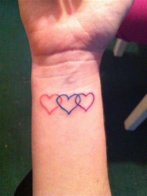 three hearts tattoos