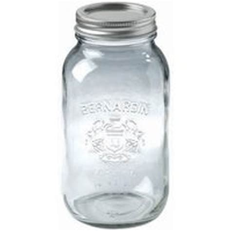 large mason jar l bernardin 11900 regular wide mouth mason jar 1 9 l