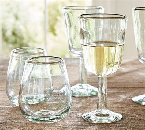 Pottery Barn Barware Santino Recycled Glassware Set Of 6 Pottery Barn