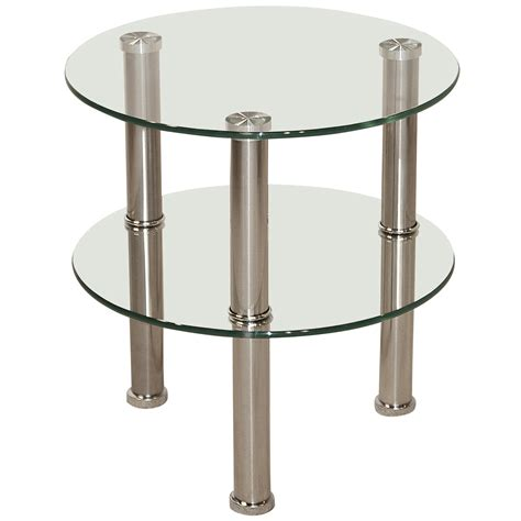 glass and chrome side table chrome glass end l small side coffee table