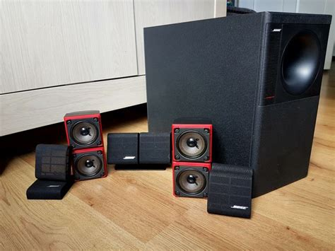 bose acoustimass  home theatre speaker system red