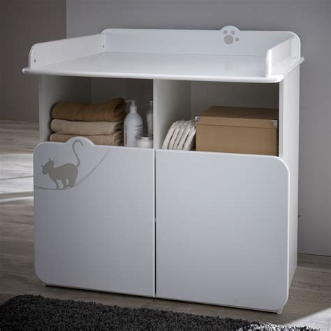 commode avec table a langer commode table a langer 2 portes 2 niches calinou