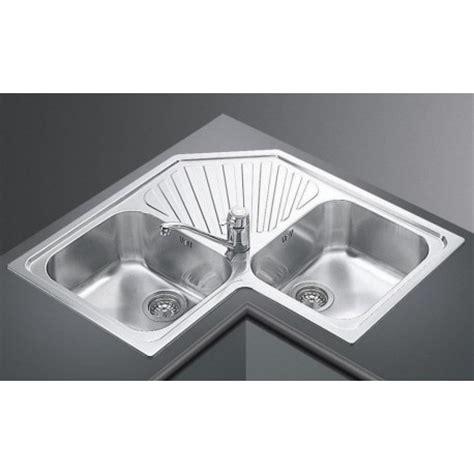 smeg kitchen corner sink alba sp2a 2 bowls stainless