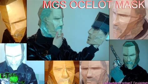 Metal Gear Papercraft - metal gear solid ocelot mask lte t papercraft by