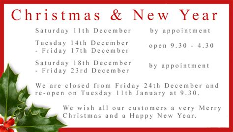 download free christmas opening hours template 2012