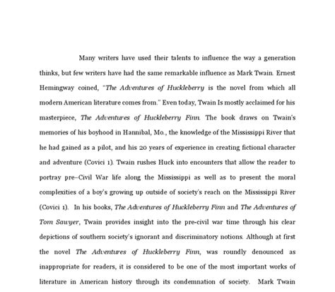 Adventures Of Huckleberry Finn Themes Essay by Literary Analysis Of Quot Huckleberry Finn Quot And Quot The Adventures Of Tom Sawyer Quot A Level