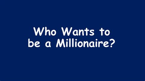 Who Wants To Be A Millionaire Template By Krisgreg30 Teaching Resources Tes Who Wants To Be A Millionaire Templates