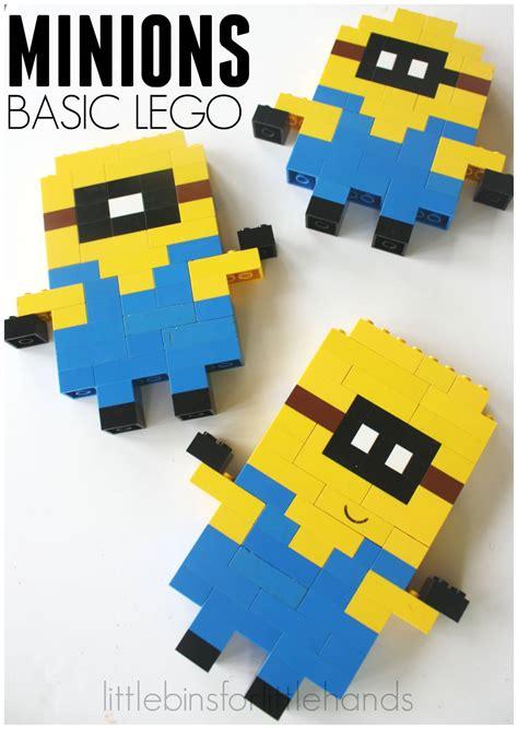 Lego Basic minion lego building activity with basic bricks