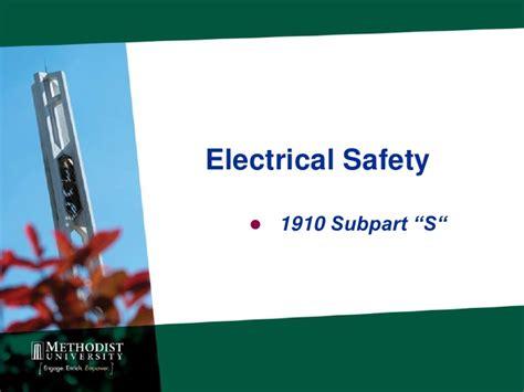 Electrical Safety 1 mu electrical safety