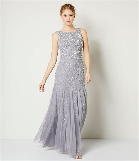Found Ports Beaded Dress by Shop For Papell Pearl Beaded Sleeveless Gown At