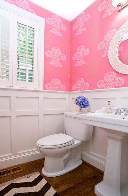 sara bathroom accessories white and pink powder room contemporary bathroom