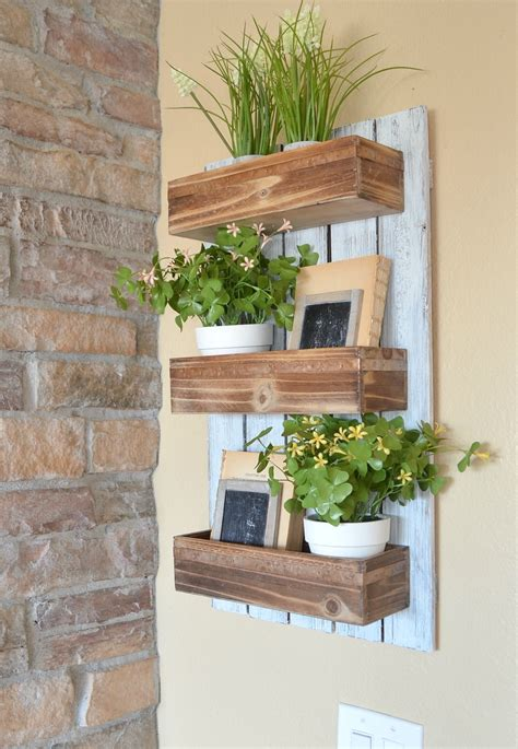 diy wooden wall planter  vintage nest