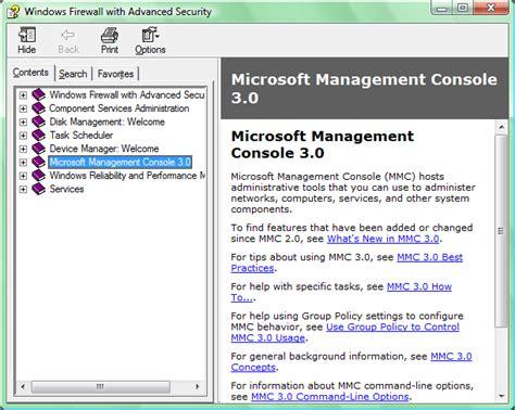 microsoft management console taking a look around windows vista s new microsoft