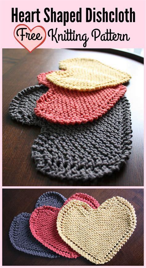 heart shaped dishcloth pattern heart shaped dishcloth free knitting pattern let s knit