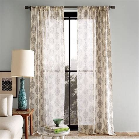 Contemporary Window Curtains Silk Paisley Window Panel Modern Curtains By West Elm