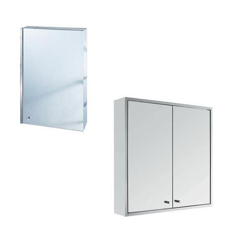Bathroom Wall Mounted Storage Cabinets Stainless Steel Wall Mount Bathroom Cabinet With Shelf Storage Cupboard Mirror Ebay
