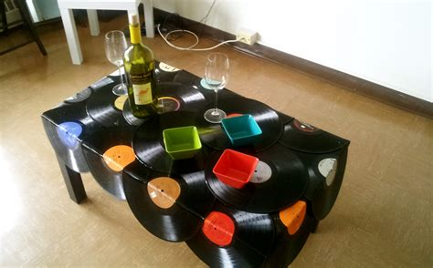 vinyl record table creative lp records use