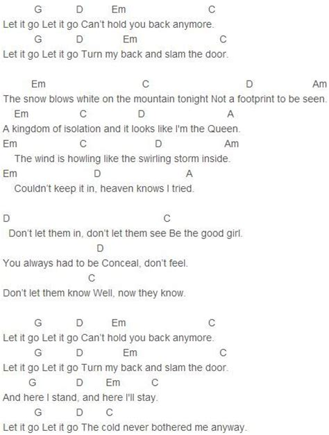 weather pattern lyrics demi lovato let it go chords music pinterest