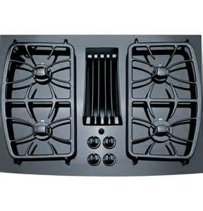 Pgp989dnbb ge profile 30 quot downdraft gas cooktop black on black bray