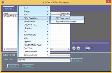 format video for psp convert videos to sony psp ps