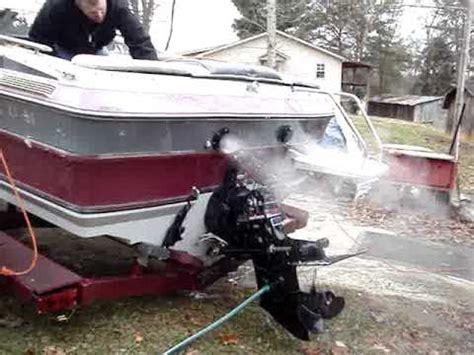 89 maxum boat thru hull exhaust 89 maxum youtube