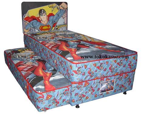 Sprei 120x200 Kasur Sorong 1 big 2in1 superman toko kasur bed murah simpati furniture