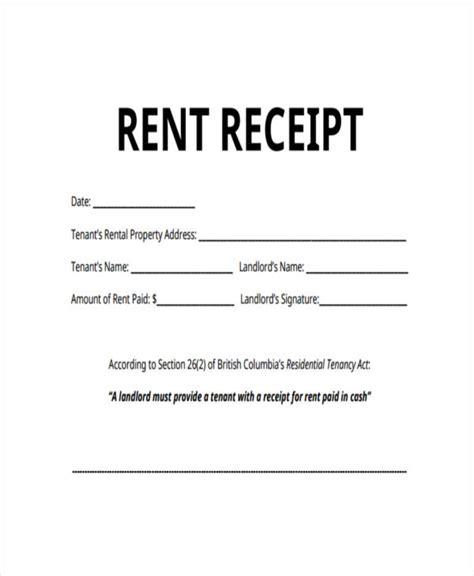 rent payment receipt template receipt for rent rent receipt template 1 rent receipt