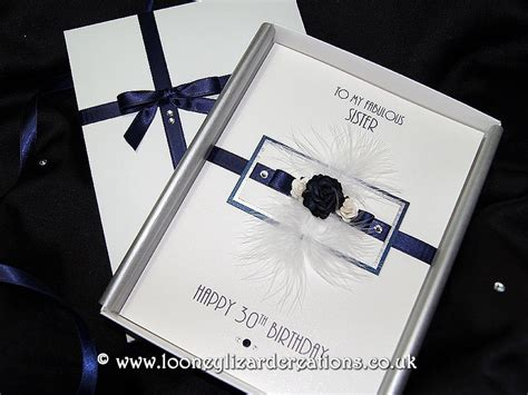 Luxury Handmade Greeting Cards - midnight luxury handmade birthday card