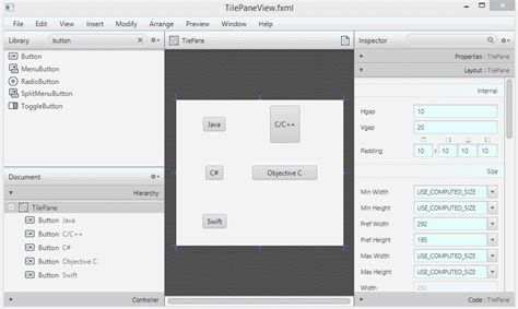 javafx layout tutorial javafx tilepane layout tutorial