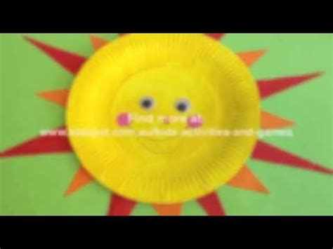 How To Make A Sun With Paper - how to make a paper plate sun