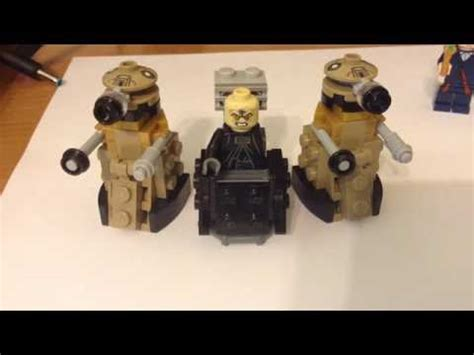 lego dalek tutorial how to build a lego dalek from doctor who doovi