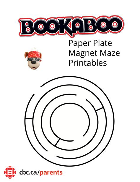 How To Make A Maze On Paper - bookaboo paper plate magnet maze play cbc parents