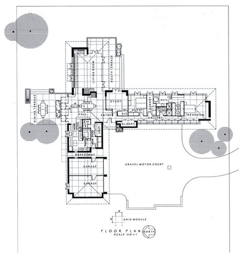 usonian floor plans modernized usonian house plans pinterest