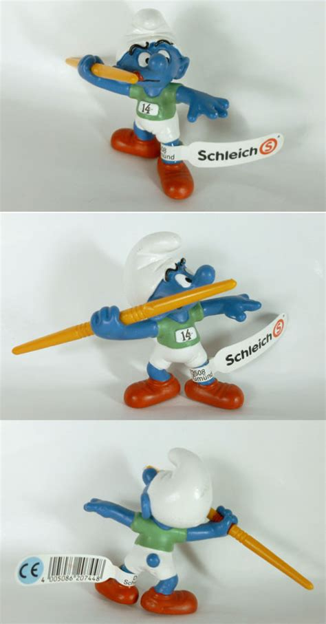 Smurf Olympic schleich smurfs 20744 javelin thrower smurf olympics collection