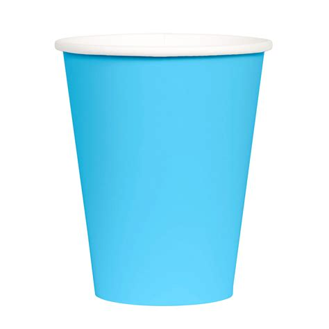 Paper Cup - disposable aqua blue paper cups by design