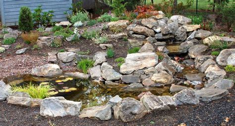 water feature rock garden farm